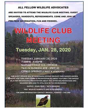 Vultures Wildlife Club Meeting